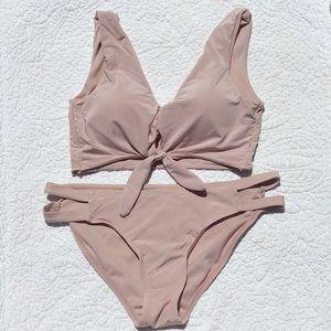 Kensie - Bikini Set - Light Pink/champagne color S
